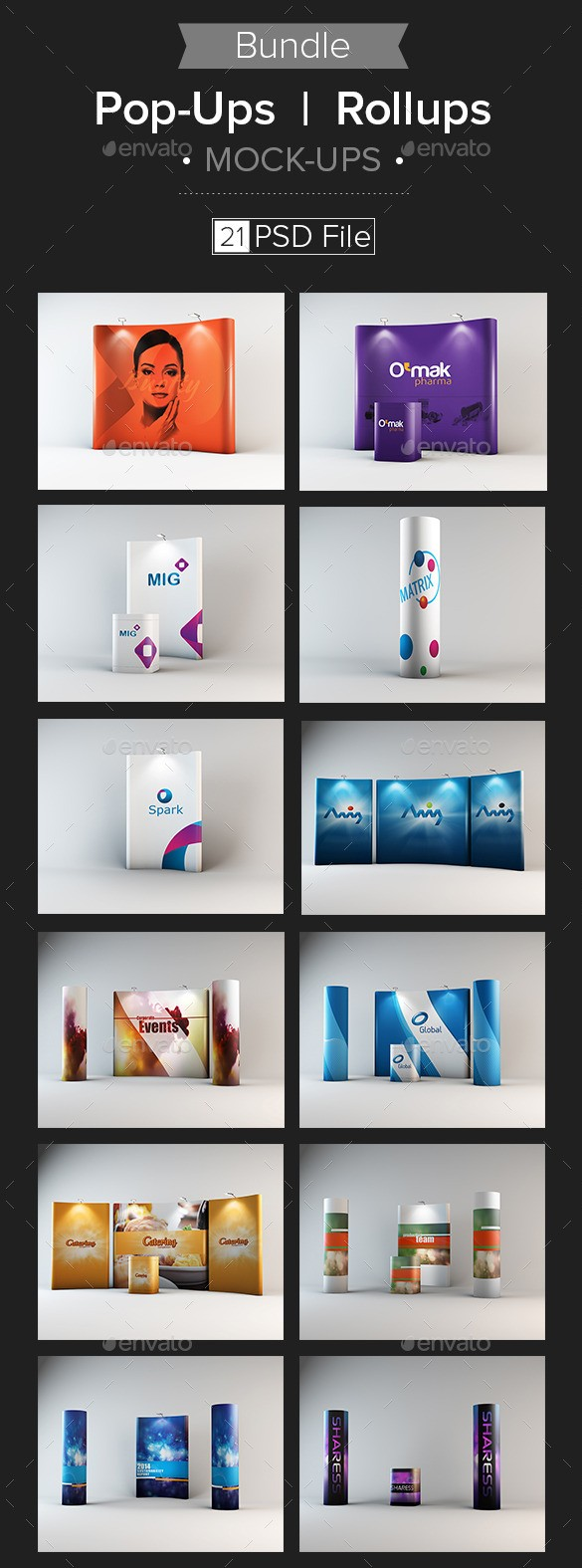 Pop-Ups/Rollups Mock-up Bundle