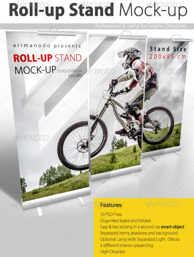Roll up Banner Stand Mock up
