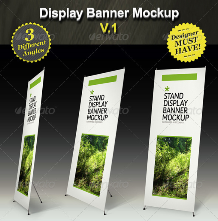 Stand Display Mockup - Roll-up Smart Template