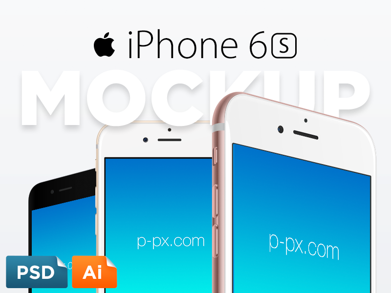 iPhone 6S Free Vector PSD + Ai Template