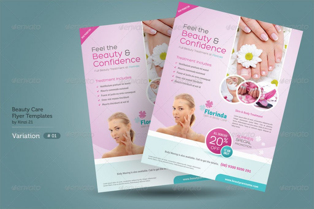Beauty Care Flyer Templates