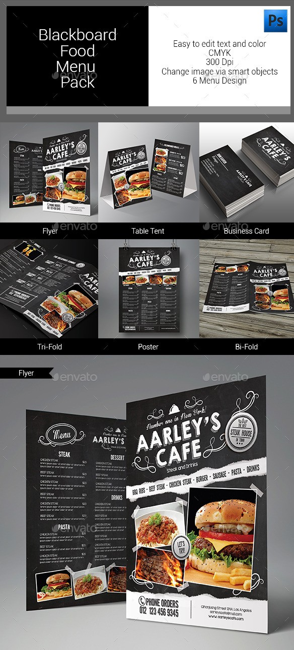 Blackboard Food Menu Bundle