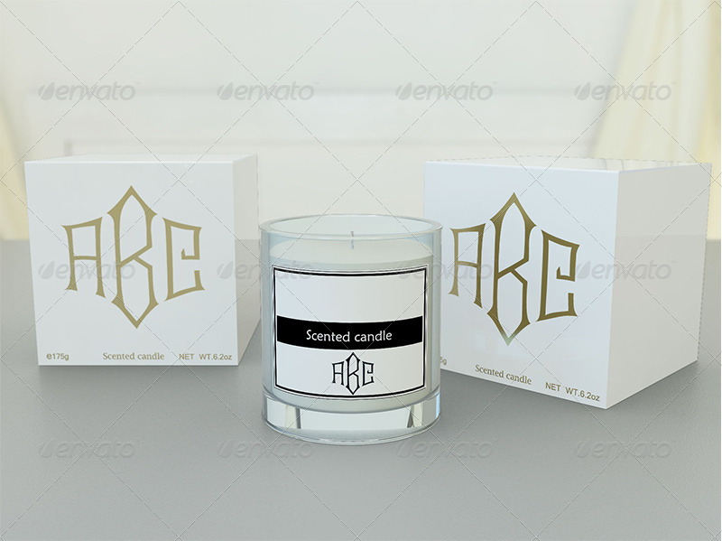 Candle and Gift Box Mockup