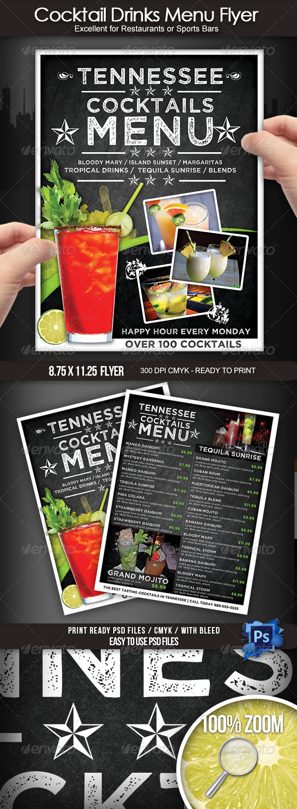 Cocktail Drinks Menu