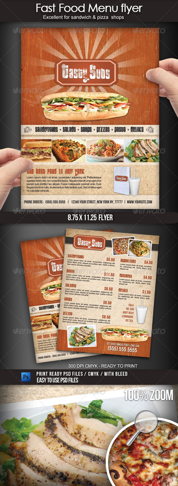 Fast Food Menu Flyer