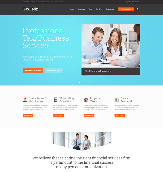 Finance & Accounting WordPress Theme