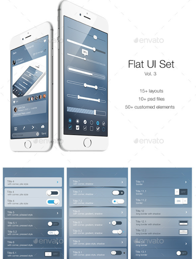 Flat UI Set Vol. 3