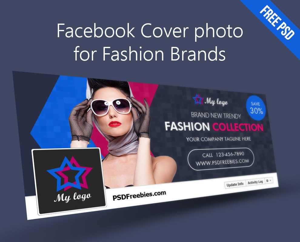 free psd facebook cover template for fashion brands psdtemplatesblog