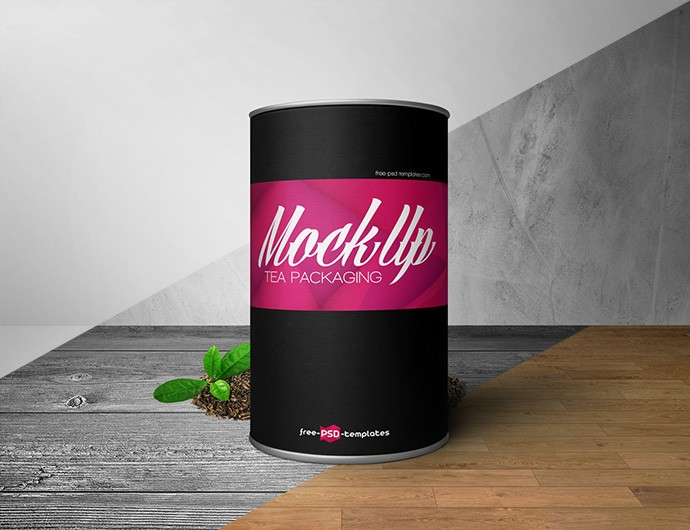Free Tea Packaging Box Mockup