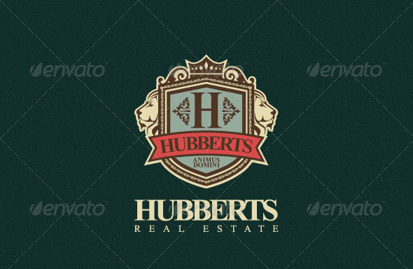 Hubberts Royal Crest Logo Template