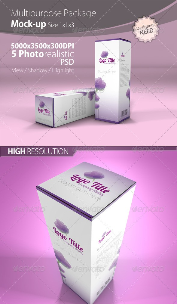 Multipurpose Box/Packaging Mock up