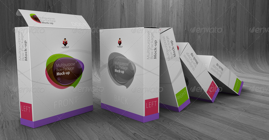 Multipurpose Product Box/Package Mockups