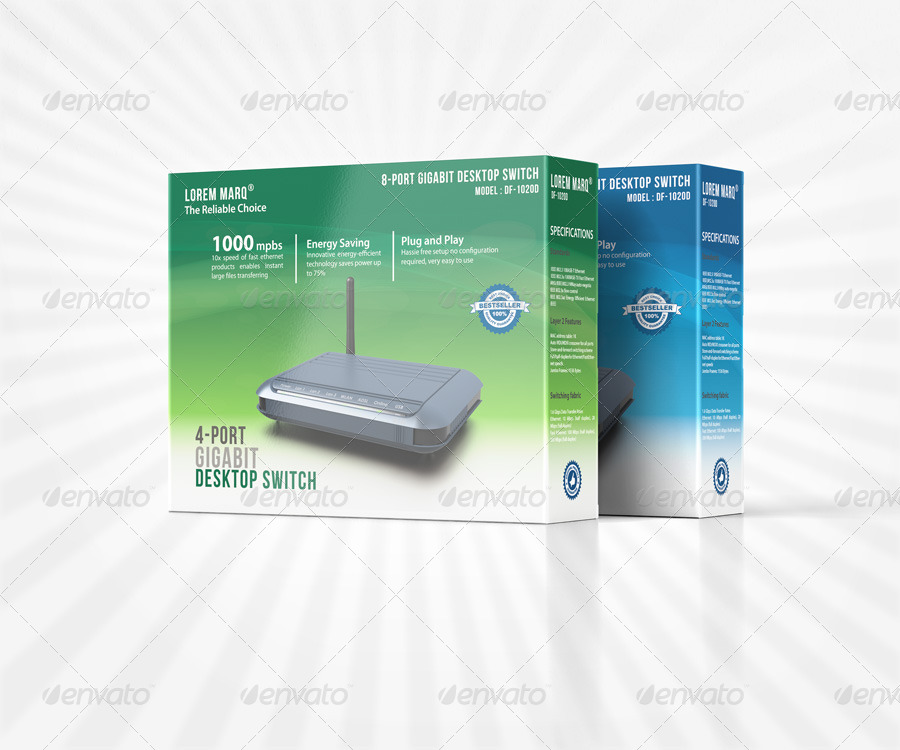 Product Package Display Box Mockup