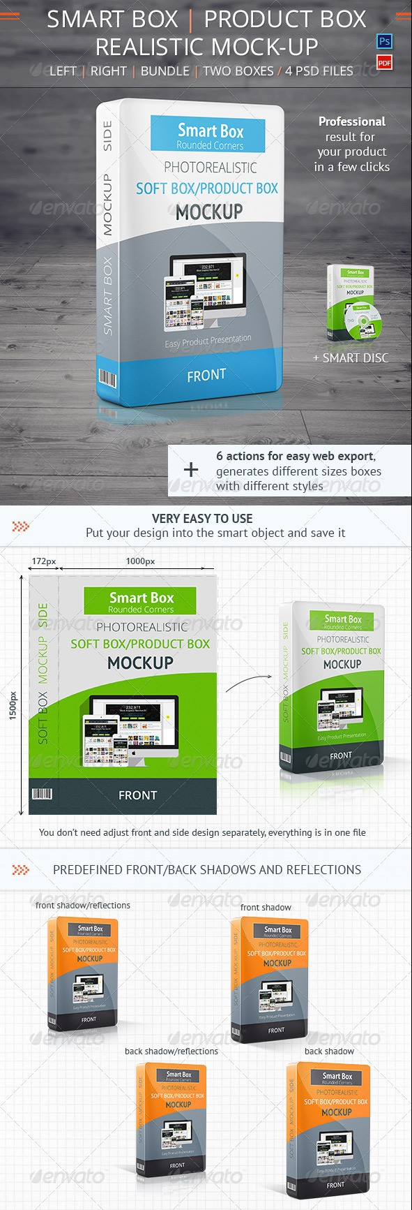 Realistic Smart Box Product Mockup Vol.2