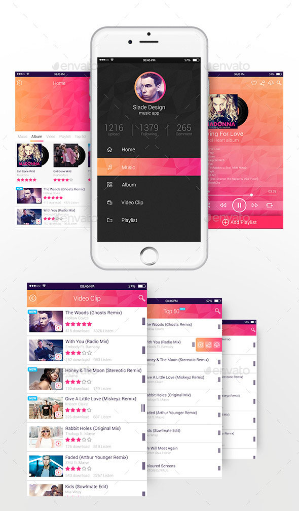 Slade Music App Design