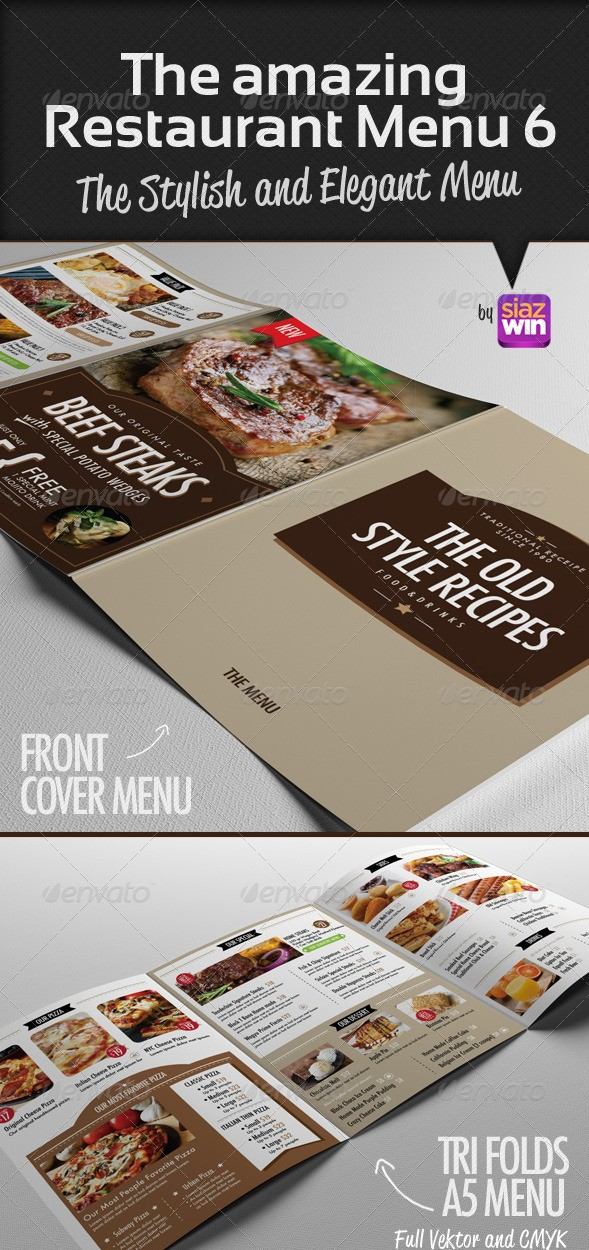 The Amazing Restaurant Menu 6