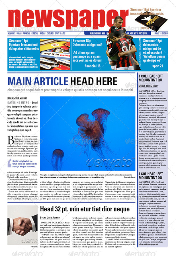 24 pages Newspaper Template