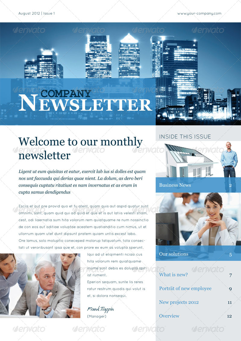 professional newsletter templates free download