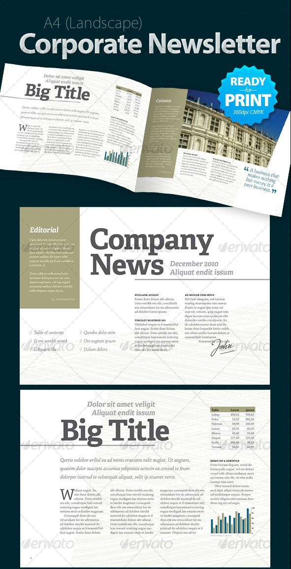Corporate Newsletter (4 pages)