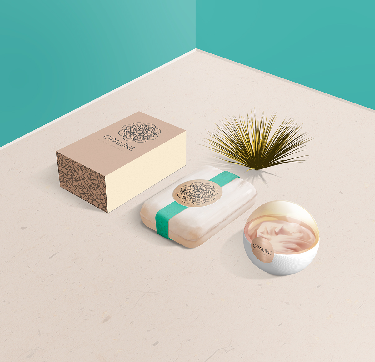 Free Cosmetic Brand Display Mockup