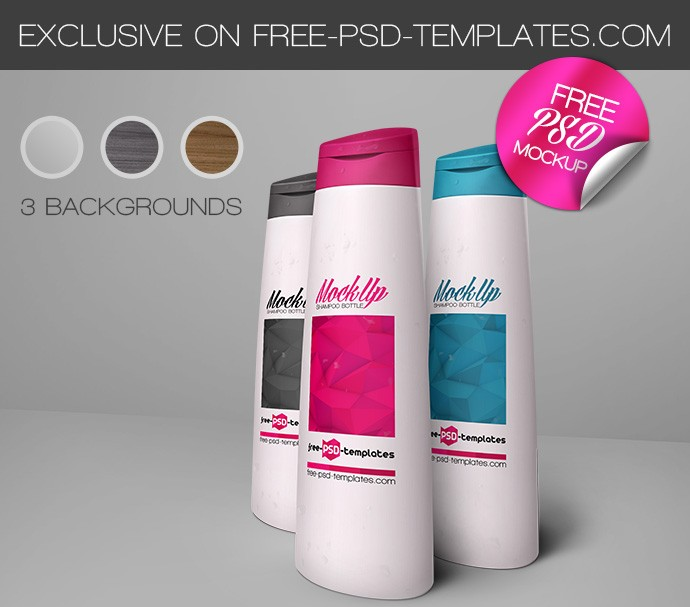 Free Shampoo Bottle Mockup
