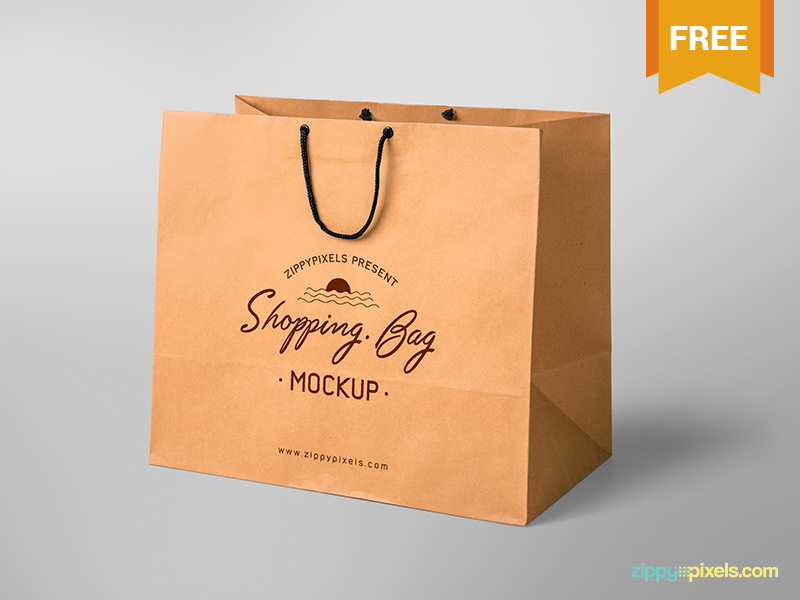 Free Shopping Bag Mockup