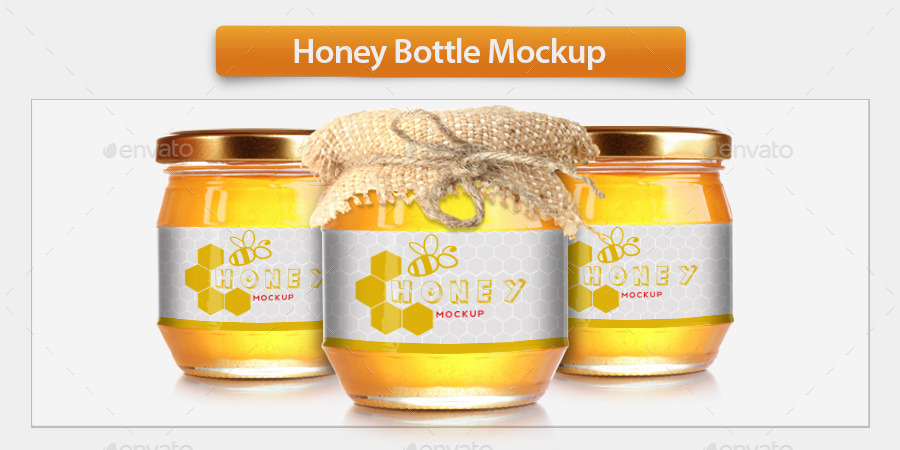 Honey Bottle Mockup