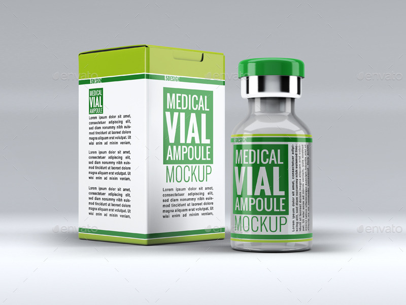 Medical Vial Ampoule Mockup