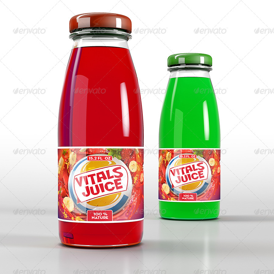 Natural Juice Bottle Mockup