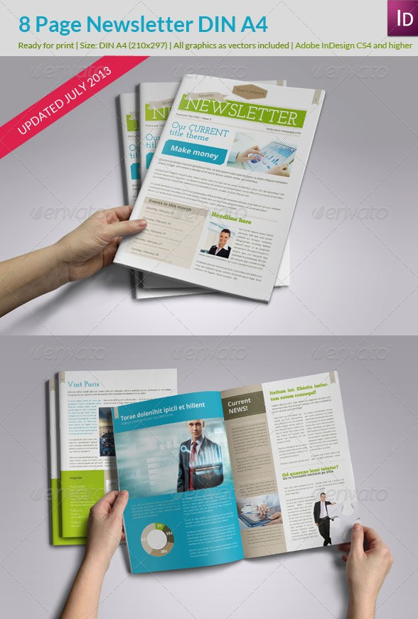 Newsletter Fresh Style - InDesign