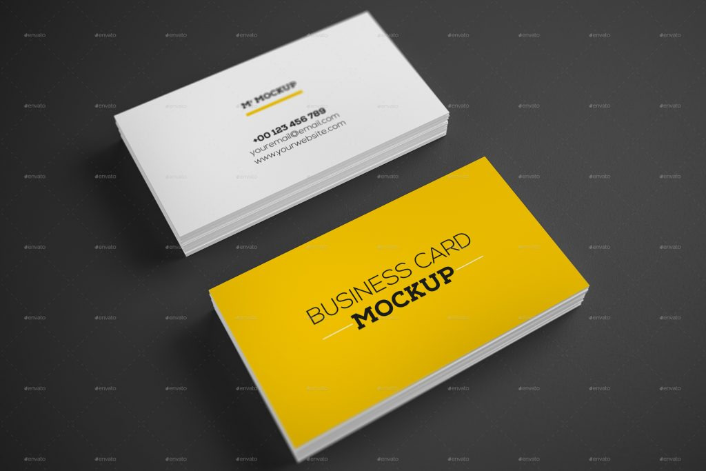 Realistic Business Card Mockup V1