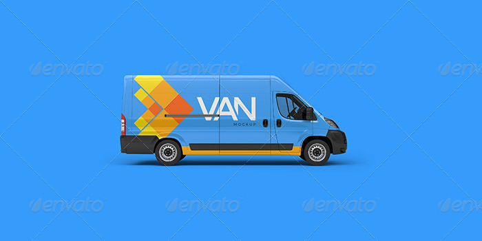 29+ Best Van Mockup PSD For Delivery Vans Branding