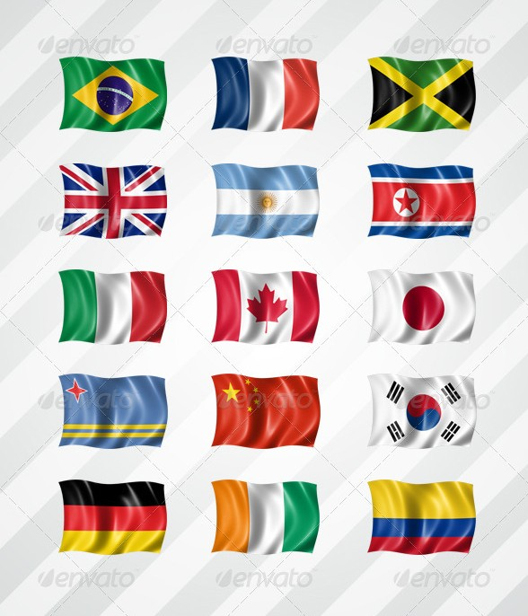 210 Flags Mockup in High Resolution