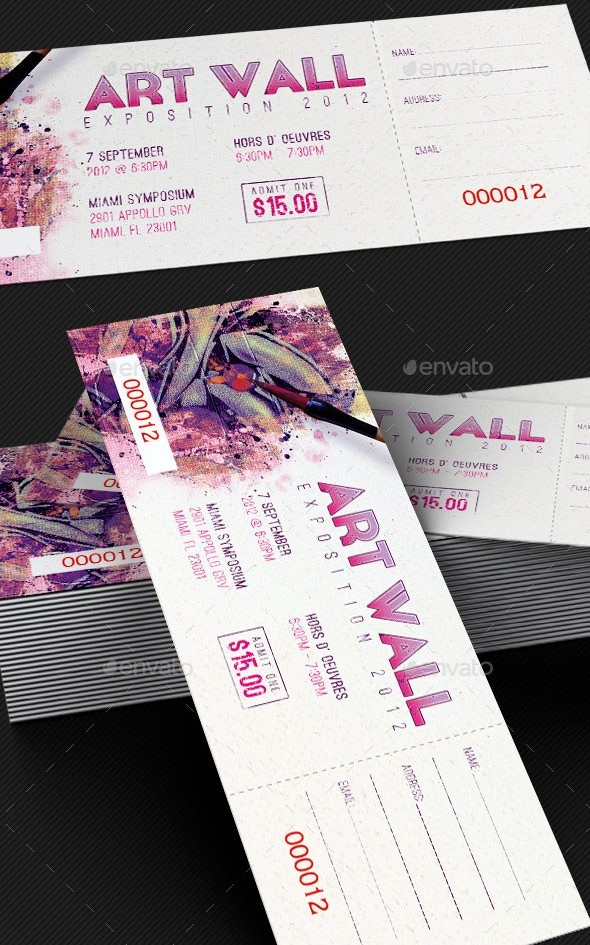Art Expo Ticket and Event Pass Template