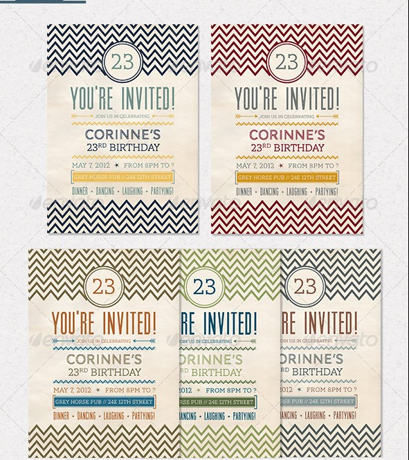 Birthday Invitation Bundle 2