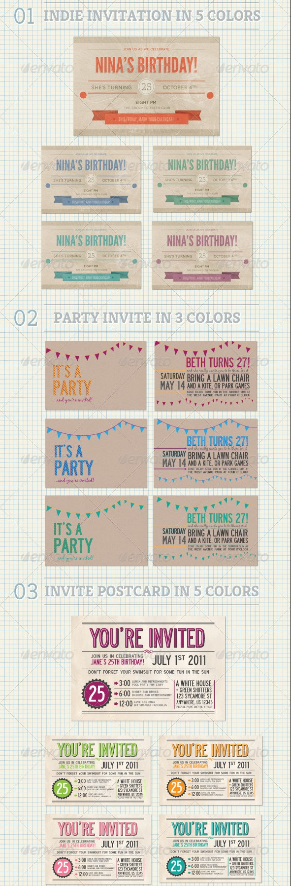 Birthday Invitation Bundle
