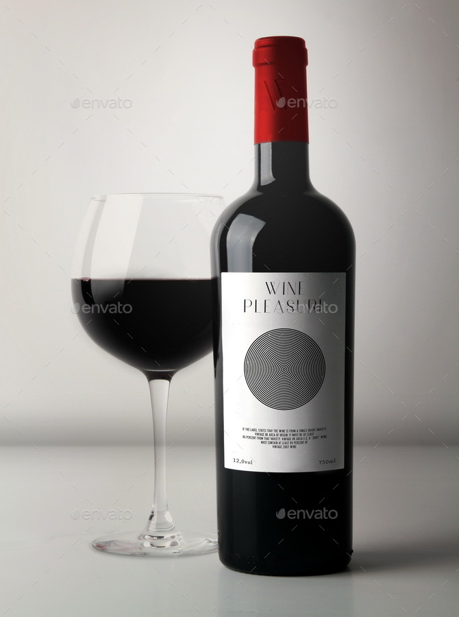 Bottle Wine Mockup