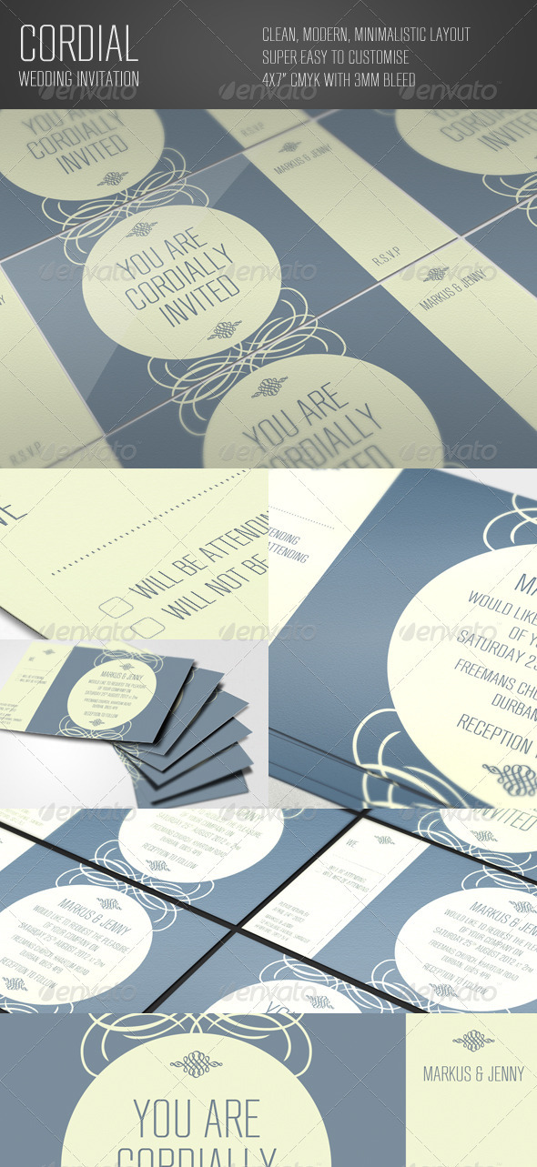 Cordial Wedding Invitation