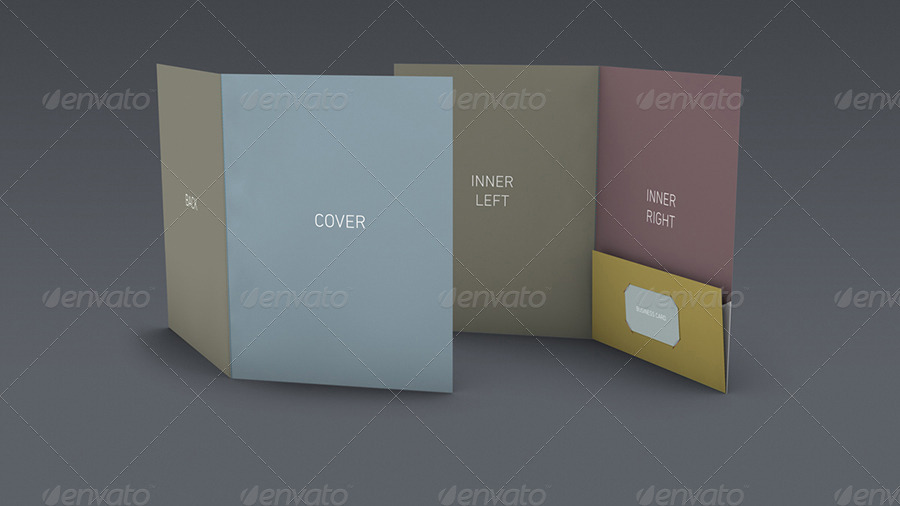 DOA Pocket Folder Mockup Set