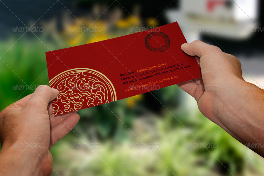 Envelope Hands Mockup