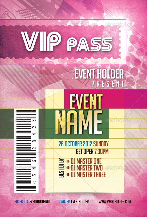 Event Ticket & VIP Pass Pack Template