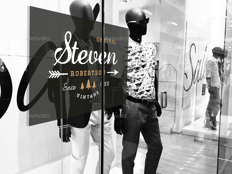 Fashion Window Signage Mockup
