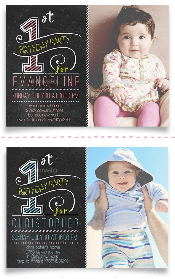 First Birthday Celebration Cards