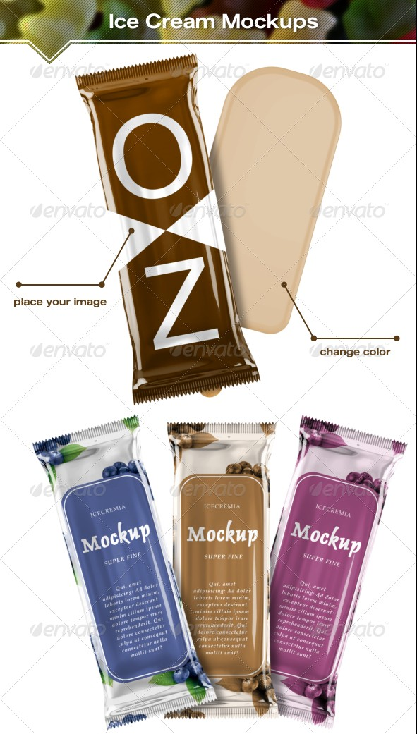 Ice Cream Package Mockups