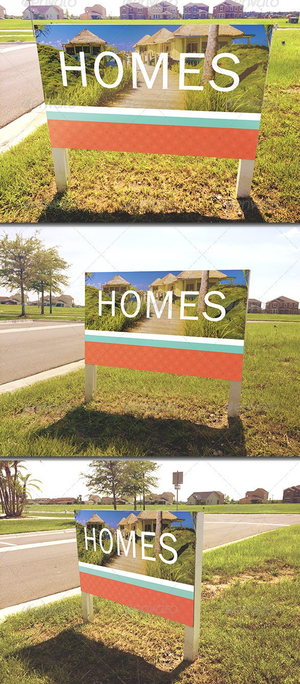Outdoor Signage Mockup Template