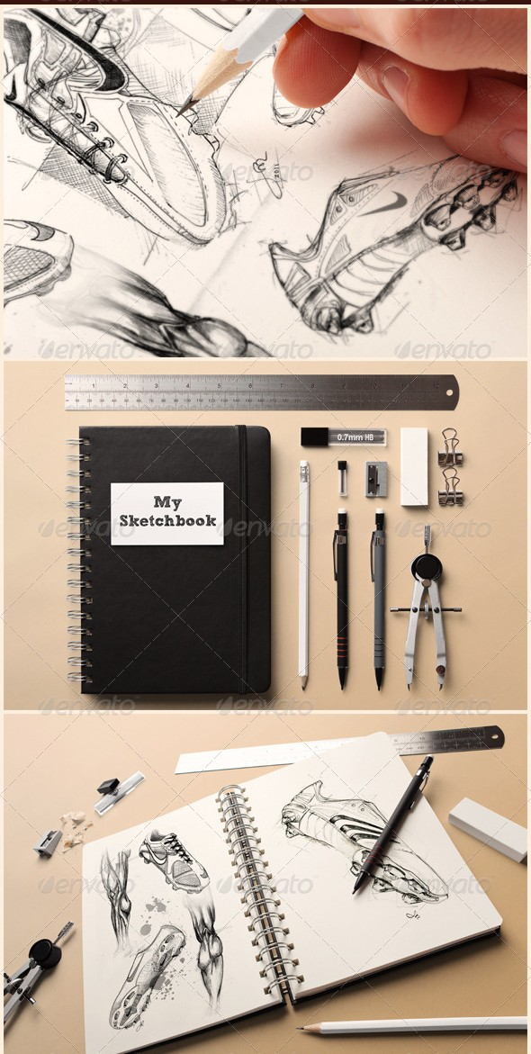 Sketchbook Mockup