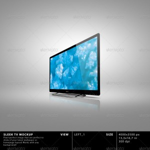 Sleek TV Mockup