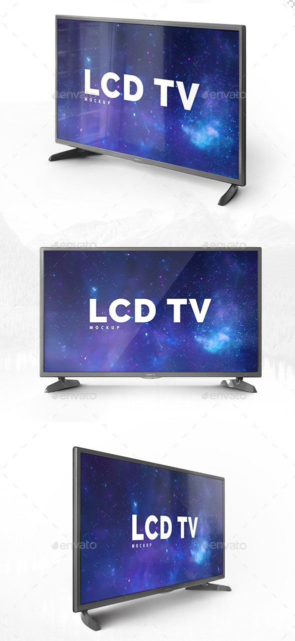 Three Photorealistic TV Mockups