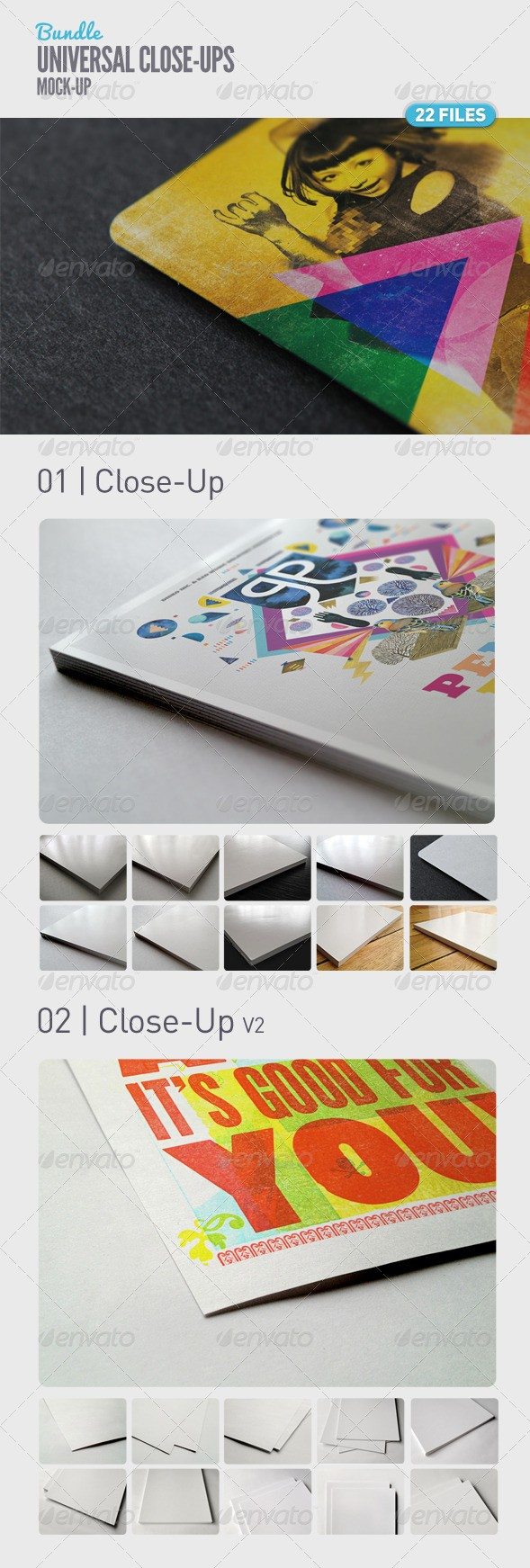Universal Closeup Mockup Bundle