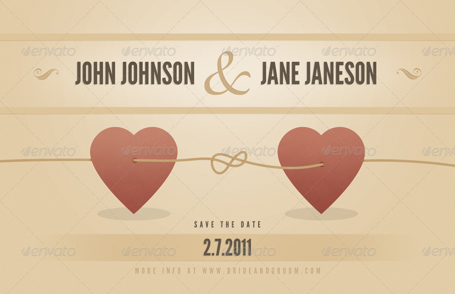 Vintage Wedding Announcement Template